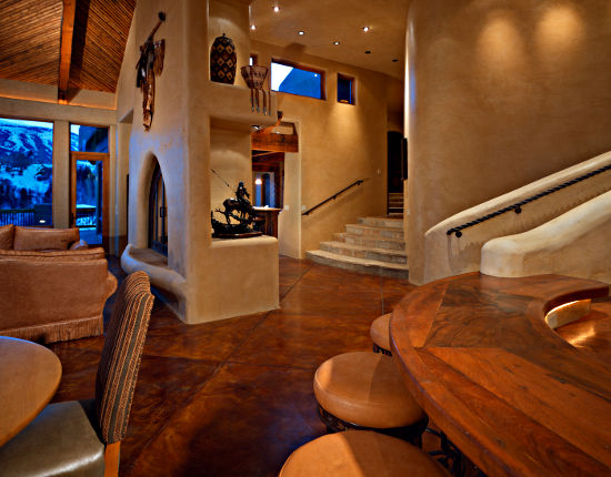 Roaring fork builders projects santa fe style for Santa fe style homes
